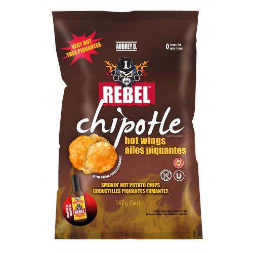 Aubrey D Rebel Chipotle Wing Potato Chips (14 x 142g bags)