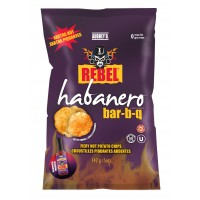 Aubrey D Rebel Habanero BBQ Potato Chips (14 x 142g bags)